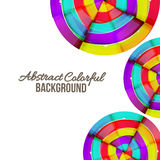 Projeto colorido abstrato do fundo da curva do arco-íris. Foto de Stock