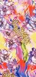 Projeto colorido bonito do fundo com flor Fotos de Stock Royalty Free