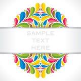 Projeto colorido criativo da bandeira ou do folheto da flora Fotografia de Stock Royalty Free