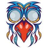 Projeto colorido da camisa da máscara do pássaro Fotos de Stock Royalty Free