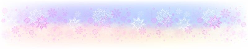 Projeto colorido do Natal com um grupo de flocos de neve graciosos ilustração do vetor