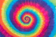 Projeto colorido do teste padrão da espiral da tintura do laço Imagens de Stock