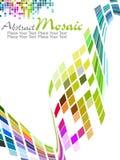 Projeto colorido do teste padrão de mosaico do vetor foto de stock