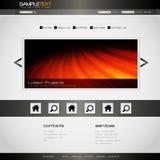 Projeto colorido do Web site do vetor Foto de Stock