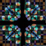 Projeto colorido geométrico e simétrico abstrato Fotos de Stock