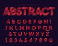 Projeto colorido retro corajoso vermelho da tipografia do sumário ilustração royalty free