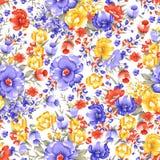 Projeto colorido tradicional sem emenda da flor ilustração royalty free