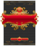 Projeto com frame dourado ornamentado Foto de Stock Royalty Free