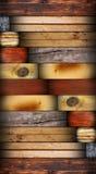Projeto com telhas de madeira Foto de Stock