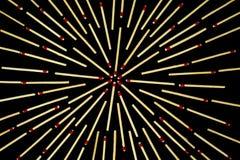 Projeto complexo da estrela com os fósforos, isolados Fotos de Stock Royalty Free