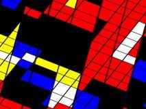 Projeto contemporâneo abstrato da arquitetura Foto de Stock