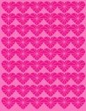 Projeto cor-de-rosa dimensional do coração ilustração stock