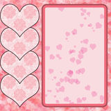 Projeto cor-de-rosa do coração ilustração royalty free