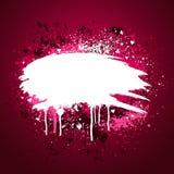 Projeto cor-de-rosa do grunge do coração ilustração do vetor