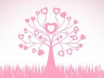 Projeto creativo abstrato da árvore do coração Fotos de Stock Royalty Free