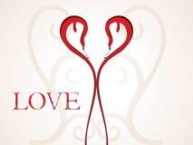Projeto creativo abstrato do coração ilustração royalty free