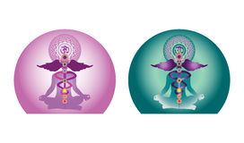 Projeto creativo da ioga ilustração royalty free