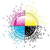 Projeto creativo de CMYK ilustração stock