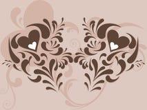 Projeto creativo do coração abstrato ilustração stock