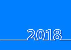 Projeto criativo do ano novo feliz do vetor 2018 ilustração stock