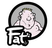 Bebê da gordura do ícone Fotografia de Stock