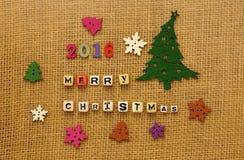 Projeto criativo do Feliz Natal 2016 Imagem de Stock Royalty Free
