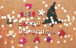 Projeto criativo do Feliz Natal 2016 Fotografia de Stock Royalty Free