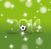 Projeto 2014 criativo do futebol Fotos de Stock