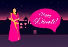 Projeto criativo do molde do festival de Diwali Diwali feliz Festival indiano tradicional Imagens de Stock Royalty Free