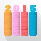 Projeto criativo do texto do ano novo feliz 2015 Imagens de Stock