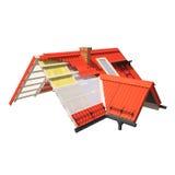 projeto 3d dos telhados Imagens de Stock