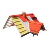 projeto 3d dos telhados Fotos de Stock Royalty Free