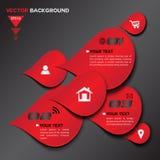Projeto 3D geométrico vermelho abstrato ilustração stock