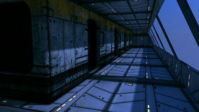 Interior futurista ilustração do vetor