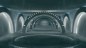 Interior futurista ilustração royalty free
