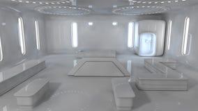Interior futurista Fotografia de Stock Royalty Free
