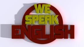 Nós falamos o inglês ilustração stock