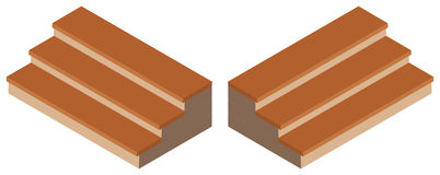 projeto 3D para etapas de madeira Imagens de Stock Royalty Free