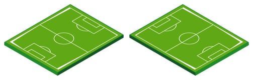 projeto 3D para o campo de futebol Fotos de Stock Royalty Free