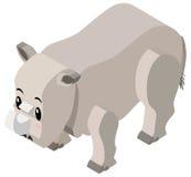 projeto 3D para o rinoceronte Foto de Stock