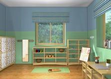 projeto 3D Sala de Toddlers' Imagens de Stock