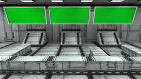 Tela 3d verde futurista Fotografia de Stock Royalty Free