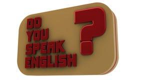 Você fala o inglês ilustração stock