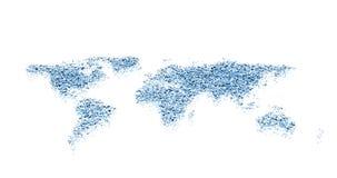 Projeto da água do mapa de mundo ilustração do vetor