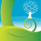Projeto da árvore ilustração stock