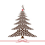 Projeto da árvore de Natal Fotos de Stock Royalty Free