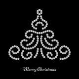 Projeto da árvore de Natal Imagens de Stock Royalty Free