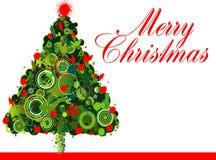 Projeto da árvore de Natal Fotografia de Stock Royalty Free
