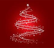 Projeto da árvore de Natal branco ilustração stock