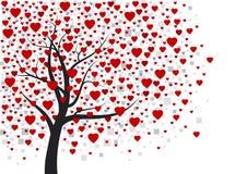 Projeto da árvore do coração Fotos de Stock Royalty Free